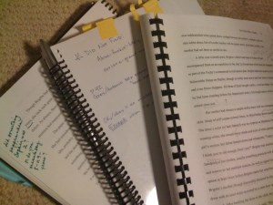 Manuscript Drafts Edited by Various Readers