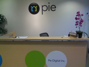 Pie's New Reception Signage