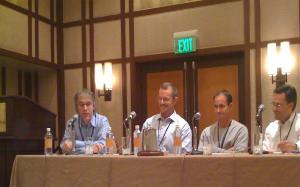 Pie Digital co-founder Jeff Hansen (2nd from left) on a panel in last week's Digital Home Summit