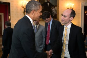 Prezi CEO, Peter Arvai, and President Obama