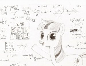 Twilight Sparkle Math Time by the REALamddude